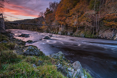 Autumn Sunset .. (Gordie Broon.) Tags: riverfindhorn moray autumn sunset drynachan glenferness ardclach scottishhighlands scotland schottland landscape rio cawdor nairnshire paisaje riviere landschaft scenery inverness forres flod fiume fluss trees paysage ecosse escocia sonya7rmkii sony1635f4lens scozia scenic footbridge szkocja le gordiebroonphotography colours rocks flow atardecer lecoucherdusoleil sonnenuntergang tramonto november 2017 longexposure geotagged northeastscotland dulsie
