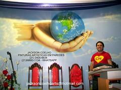 pintura-em-parede-de-igreja-evangélica-mão (Jackson Coelho) Tags: parede pintura altar pulpito igreja evangélica assembleia deus mão poderosa mãos oração católica capela congregação