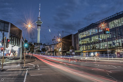 Light Trails Photography at Victoria Street, Auckland.