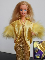 Day to night modeling Superstar Rock'n roll 1988 (Freddycat1) Tags: superstar rockn roll 1988 fashion barbie mattel