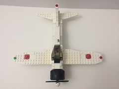 Zero aerial view front (TheMachine27) Tags: lego zero wwii japanese fighter airplane mitsubishi military a6m
