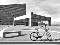 Black And White Friday Built Structure Architecture Building Exterior Bicycle Transportation Sky Day Outdoors City Cloud - Sky Bridge - Man Made Structure Full Length Shadow One Person Modern One Man Only Parking Garage People Only Men The Week On EyeEm l (Michail Paschalidis) Tags: blackandwhitefriday builtstructure architecture buildingexterior bicycle transportation sky day outdoors city cloudsky bridgemanmadestructure fulllength shadow oneperson modern onemanonly parkinggarage people onlymen theweekoneyeem