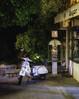 Un rincón de Taormina (MigueR) Tags: italia sicilia taormina sicily motocicleta cabina calle street nocturna fuji xt1