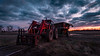 The Day is done. (_Matt_T_) Tags: sunset westlincoln tractor weather dusk hdr lightroomcc red internationalharvester hydraulics harvest equipment mow winter farm 520 case clouds forks hdpdfa1530mmf28edsdmwr wideangle