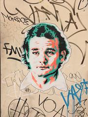 Finding Bill Murray (wiredforlego) Tags: graffiti streetart urbanart sticker wheatpaste pasteup lasvegas vegas las nevada