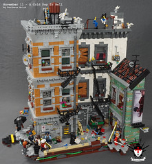 A Cold Day In Hell 1 by Barthezz Brick (Barthezz Brick) Tags: crime scene lego moc barthezz brick city police dreams custom murder gun detective fantasy afol