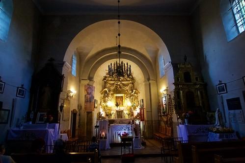 Wnętrze kościoła św. Mikołaja w Wysocicach