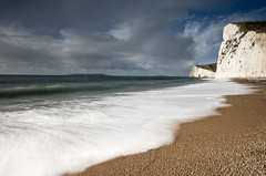 Durdle Door Beach Colour (www.davidrosenphotography.com) Tags: seascape sea dorset long exposure coast england water