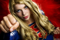 A Super Girl... (Ring of Fire Hot Sauce 1) Tags: cosplay supergirl quirkygirlcosplay sandiegocomiccon sdcc portrait blonde