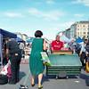 Flea Market at Naschmarkt (faVori rouge) Tags: flea market naschmarkt vienna travelphotography rolleiflexsl66 analogphotography 6x6 kodak e100vs streetphotography people