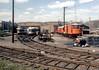 72nd St shops SEPTA NHSL Apr90 7 (jsmatlak) Tags: philadelphiawestern pw septa norristown pennsylvania brill bullet electric railway interurban train