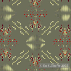 Design Challenge entry: 'Hygge home fires on dark khaki by Su_G' (Su_G) Tags: sug 2017 hyggehomefiresondarkkhakibysug detail designdetail designimagedetail spoonflower spoonflowerdesignchallenge designchallenge spoonflowercontest contest hyggehomefires darkkhaki hygge danishzen danishhygge golds redandgold goldadnred fire hearth hearthfire bonfire flickeringfirelight warmth warm khaki charming awarmandcharmingmomentintime roostery