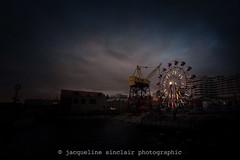 337/365 - Retro Wheel (Jacqueline Sinclair) Tags: ferriswheel wheel lonsdale quay north vancouver shipyards christmas ride nostalgia vintage blue hour lights fun