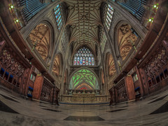 is there room for everyone in heaven (Wizard CG) Tags: st mary redcliffe church bristol england uk hdr samsung fisheye lens gothic architecture grade i listed building stained glass anglican parish epl7 ngc world trekker micro four thirds 43 aisle hall mosaic vault ceiling wood