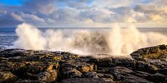 Craster Waves (urfnick) Tags: sunrise sea ocean sky coast beach rocks water seaside waves bay canon eos 1300d england uk 1018mm northumberland