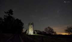 Geminids meteors over the ruins of St Mary's church (Gary Pearson Photography) Tags: geminids meteor shower 2017 st mary's church ruins sandringham estate norfolk stars sky night gary pearson light painting