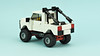 White Off-Road Pickup Truck (de-marco) Tags: lego car truck pickup offroad 5stud town city
