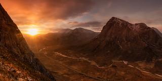 Sunrise over Glencoe