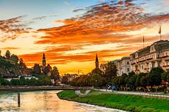 Au Revoir Sun (BeNowMeHere) Tags: ifttt 500px color travel clouds cityscape trip landscape architecture sky sunset city austria colour salzburg benowmehere aurevoirsun