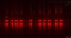 Alien Landing Site (swmartz) Tags: hamilton mercercounty newjersey night lights red alien