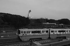 Taiyo-No-To and Osaka Monorail (Hideki Iba) Tags: monorail transport expo suita osaka japan nikon d850 tower bw monochrome car