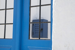 Blue Courtyard Gate, Santorini Details 58 (John Hallam Images) Tags: blue courtyard gate santorini details greece greek islands