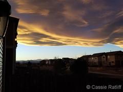 November 19, 2017 - A stunning sunset along the Front Range. (Cassie Ratliff)