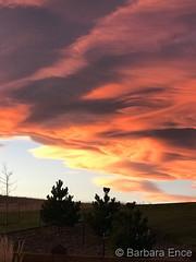 November 19, 2017 - A stunning sunset along the Front Range. (Barbara Ence)