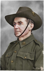 Colorized Portrait of David LORD Army Photo (Paper People Past) Tags: david lord alfred elmore portrait soldier uniform hat australian older colorized colorization paperpeople past army photo colourise colourised colourisation wwii ww2 maryann reynolds albury lavington rsl