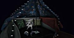 High Fort (Metzyyy) Tags: secondlife sl fort pillowfort blanketfort panda onesie pandaonesie resting snooze buzz high weed 420 sleep lights night cute