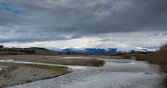 RIver View (stewartbaird) Tags: spring landscape sunset river nature otago mountains scenic snow newzealand clouds