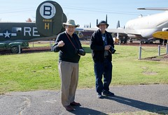 Bill III and Ian DSC_0013 (wbaiv) Tags: castle air museum november 2017 outdoors outside blue sky california central valley atwater former sac base b36 b52 strategic command brother ian father bill iii 3 visit take pictures airplanes b24 b24er afb route 99 next usaf united states force