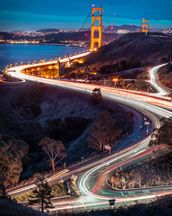 Street Dreams (instagram: @ayegaem) Tags: sanfrancisco california travel goldengatebridge bayarea longexposure bluehour