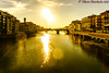 View from the Ponte Vecchio, Florence, Italy (vdwarkadas) Tags: florence italy bridge pontevecchio oldbridge firenze water river riverarno arno sony sonya6000 sonyilce6000 sun