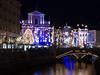 Ljubljana Christmas Market Lights (belboo) Tags: ljubljanica si christmas lights ljubljana market night nightshot river slovenia