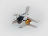 Space ship 20ps (Crabhead) Tags: moc lego space ship micro small aircraft