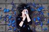 Jacarandá (Kathy Chareun) Tags: art arte ps photoshop blue azul purpura ourple flowers flores flor flower love amor spring primavera baires buenosaires argentina tigre woman mujer femme girl street calle colour color autorretrato autoretrato selfportrait hand mano eye ojo hair pelo death muerte 365 challenge reto