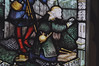 Church Eaton, Staffordshire, St. Editha, north aisle, east window, bottom, shepherds, detail (groenling) Tags: churcheaton staffordshire staffs england britain greatbritain gb uk steditha window glass stainedglass northaisle kempe mmiia bagpipes shepherd nativity birth nativitas christmas xmas