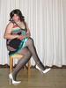 sitting pretty (Barb78ara) Tags: littledress sittingpretty nylon nylons pantyhose nylonpantyhose stripednylon whiteheels whitepumps highheels stilettoheels stilettohighheels anklet qosanklet