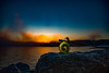 December Seatrout Hunt (Brant He. Fageraas) Tags: flyfishingart flyfishing seatrout landscape seascape sunrise canon colors vollen oslofjorden norway foggy misty fog
