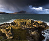 Rain to the left of me, rainbow to the right... (lawrencecornell25) Tags: landscape waterscape scenery scotland skye isleofskye braes anairdpeninsula dunananaisilidh bentianavaig rainbow raining nature outdoors hiking