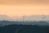 Becalmed (Andrew_Leggett) Tags: wind turbine windfarm sunset distant landscape layers