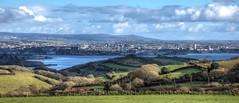 Plymouth, from Tregantle Fort, Cornwall (Baz Richardson (now away until 21 June)) Tags: devon plymouth devonport dartmoor rivertamar stjohnslake