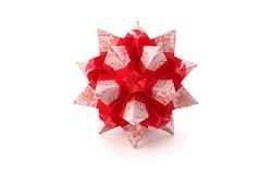 Elizabeth (ronatka) Tags: kusudama modularorigami mashaathanasiadi square whitebackground white red ef50mmf18stm inexplore
