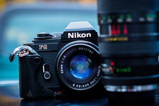 Nikon FG and Vivitar TX 100-300mm F5
