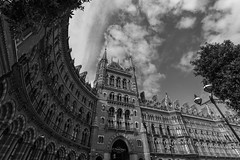 St Pancras Hotel (justingreen19) Tags: england eustonroad kingscross london londoncity londonhotel marriott midlandgrand nw1 renaissance stpancras stpancrashotel uk abstract architecture city clouds hotel justingreen19 lookingup sky urban urbanabstract wideangle