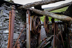 A9T Llangristiolus Level, Dinorwic (Rogpow) Tags: dinorwic dinorwicquarry slatequarry wales dinorwig snowdonia northwales machinery machine drumhouse winder rust rusty ruin derelict decay dilapidated old quarry slate llanberis llangristioluslevel abandoned fujifilm fuji fujixt1