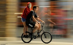 Annonymous Panning (disgruntledbaker1) Tags: ride bike panning scary mask