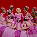 Marilyn Monroe with Chorus & Dancers, Wearing Iconic Pink Dress,