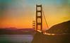 Golden Gate Bridge at Sundown (Thomas Hawk) Tags: america california goldengatebridge goldengatebridgeatsundown sanfrancisco usa unitedstates unitedstatesofamerica bridge postcard sunset fav10 fav25 fav50